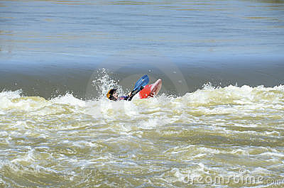 Whitewater Kayaking Stock Photo - Image: 20086260