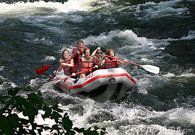 Whitewater Rafting Editorial Photography