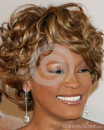 Whitney Houston,Clive Davis Editorial Stock Photo