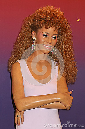Whitney Houston Wax Figure Editorial Stock Photo