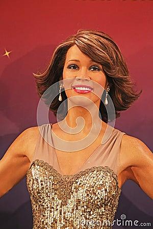 Whitney Houston Wax Figure Editorial Stock Photo