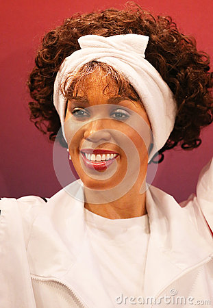 Whitney Houston Wax Figure Editorial Stock Image