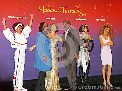 Whitney Houston Wax Figures, Editorial Image