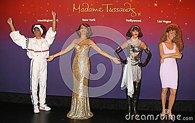 Whitney Houston Wax Figures Editorial Stock Image