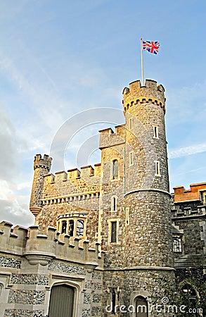 Whitstable castle flying the flag