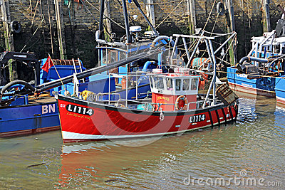 Whitstable s fishing harbour Editorial Photo