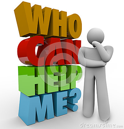 Free Who Can Help Me Thinker Man Needing Customer Support Stock Photo - 31478070