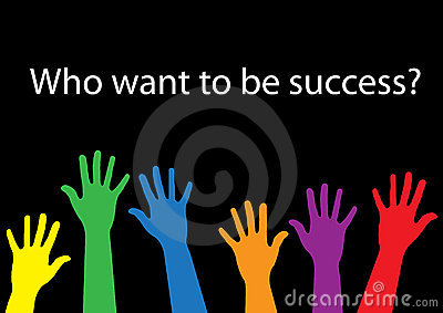 Who want to be success hand