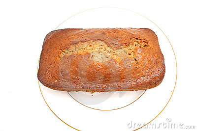 Whole banana bread on top