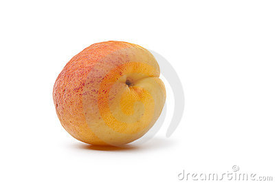 Whole fresh single apricot