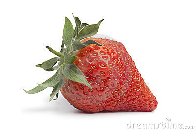 Whole fresh strawberry