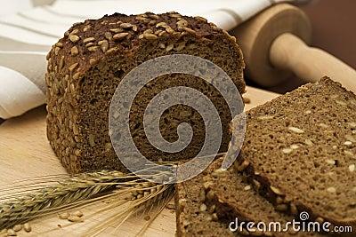 Whole grain bread still-life