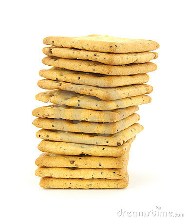 Free Whole Grain Crackers Stack Royalty Free Stock Photography - 9942597