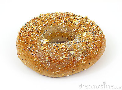 Whole grain wheat bagel