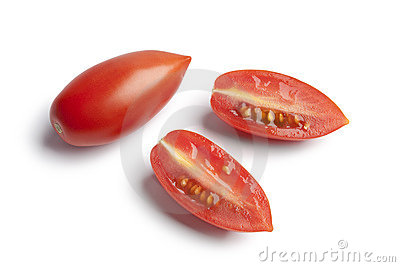 Whole and half Italian tomatoes