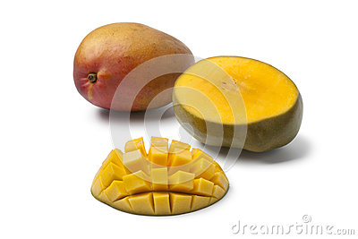 Whole and half Mango