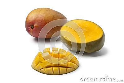 Whole and half Mango