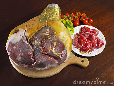 Whole italian ham prosciutto crudo di parma