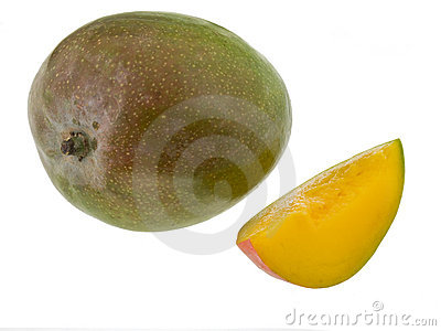 Whole mango and slice