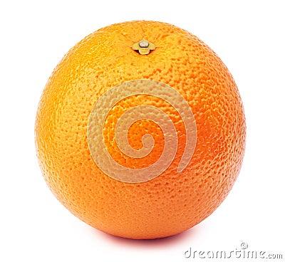 Free Whole Orange Isolated On White Royalty Free Stock Image - 84680596
