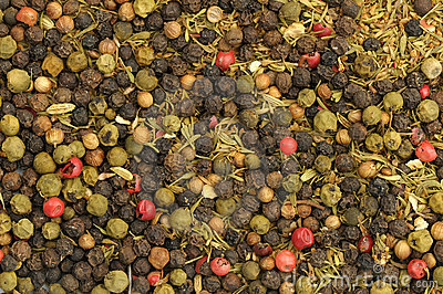 Whole peppercorns background