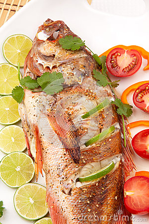 Whole Roasted Wild Rockfish