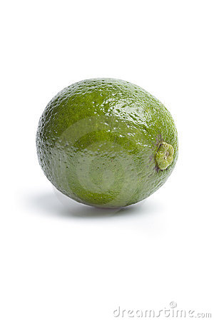 Whole single fresh lime