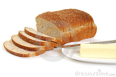 Whole wheat bread and butter