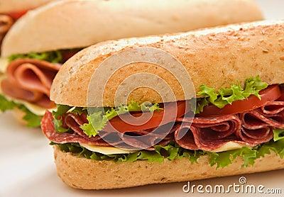Whole wheat salami submarine s