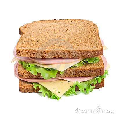 Whole wheat sandwiches