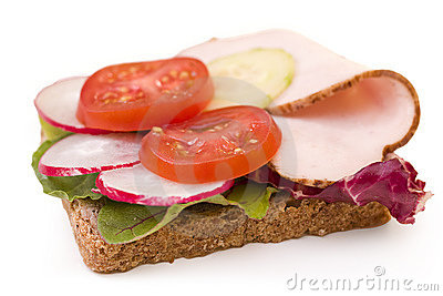 Whole wheat turkey breast sandwich