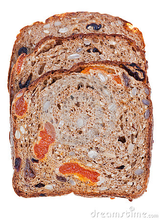 Wholegrain bread with dried fruits