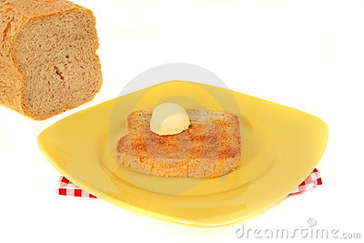 Wholemeal bread with butter