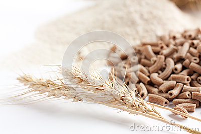 Wholemeal and its products, ears of wheat