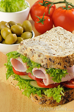Free Wholemeal Sandwich Stock Photography - 10764582