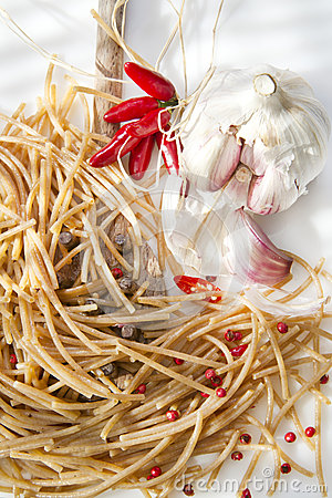 Wholemeal Spaghetti Garlic And Chili Oil
