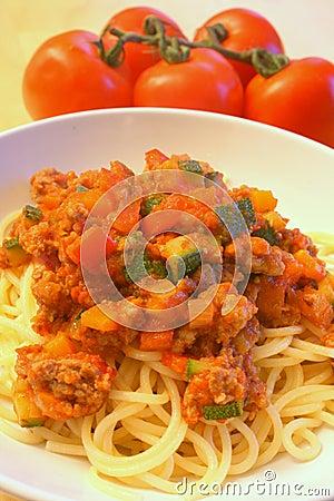 Wholesome pasta dish