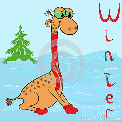 Why Giraffe is so cold in winter?