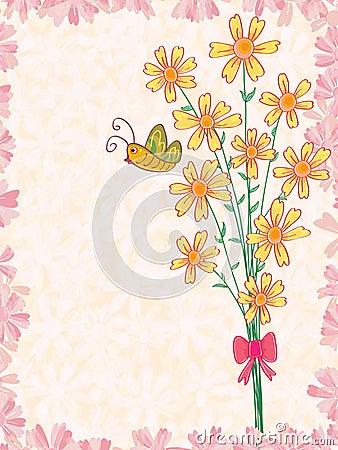 Wiązka kwiatu motyl