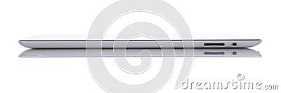 Wi-FI 2 64Gb van de appel iPad + 3G Zijaanzicht Redactionele Foto