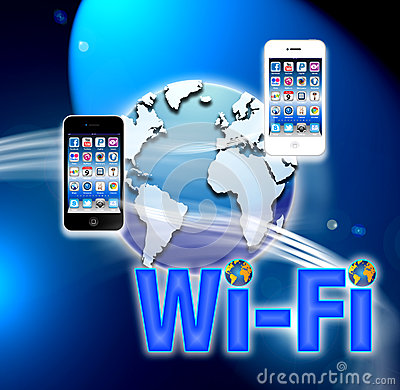 Wi-fi mobile wireless network Editorial Stock Photo