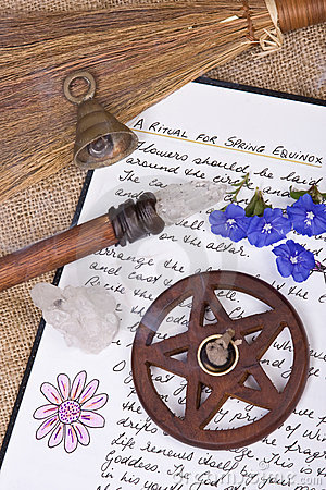 Wiccan Spring Ritual - Book Of Shadows