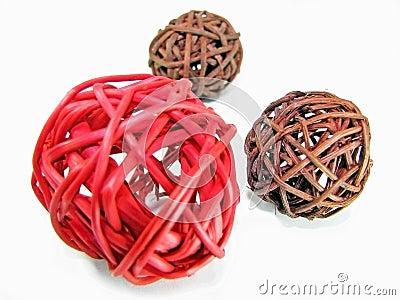 Wicker balls
