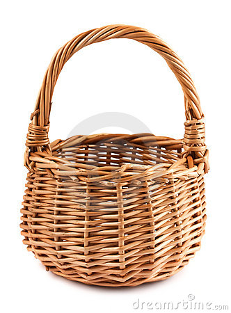 Free Wicker Basket Royalty Free Stock Images - 23022809