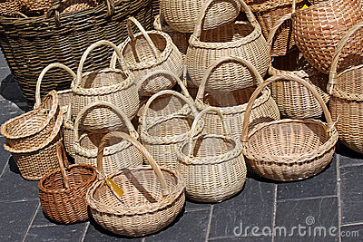 Wicker baskets on sale