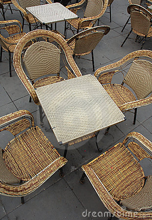 Free Wicker Chairs And Tables Stock Image - 2106801