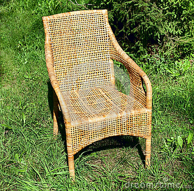 Wicker comfortable chair