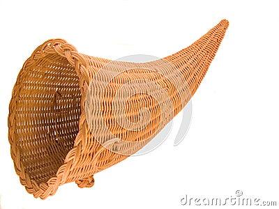 wicker cornucopia basket royalty free stock images image