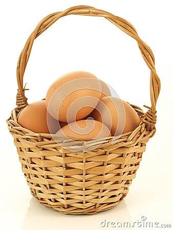 Wicker of eggs