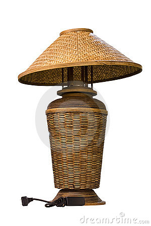 Wicker electric lamp